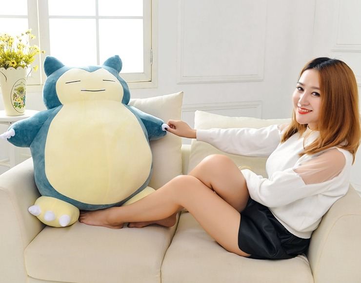 Giant Snorlax Plush Toy - Can Be Used As A Bean Bag Or Bed