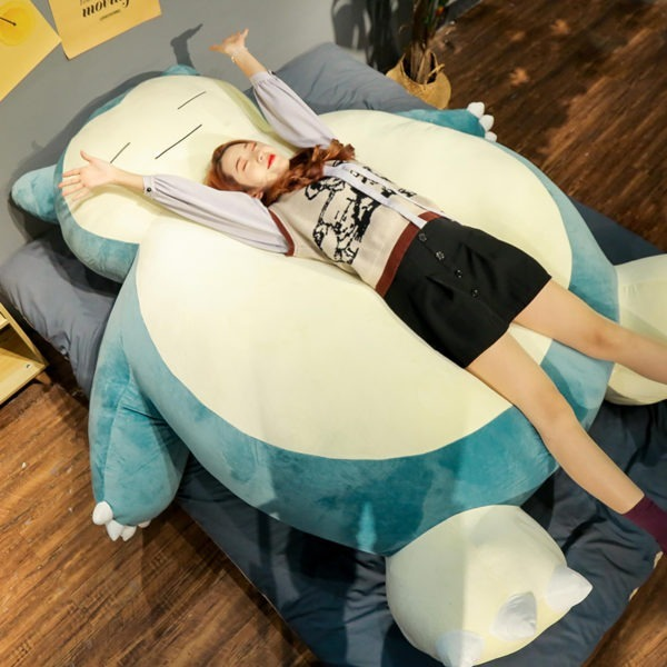 2020 new style Snorlax plush toy large size 100/150/200cm Snorlax Plush Anime cover with zipper for girlfriend birthday gift