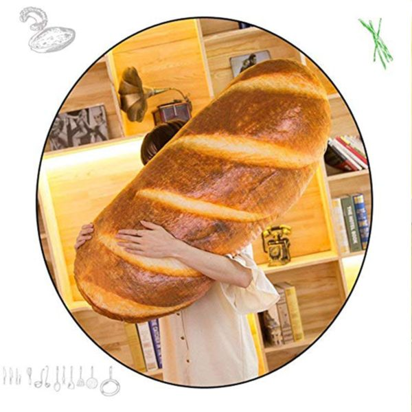 Realistic Bread Shaped Pillow