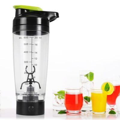 Portable Electric Protein Shaker Water Bottle - 600ml Capacity