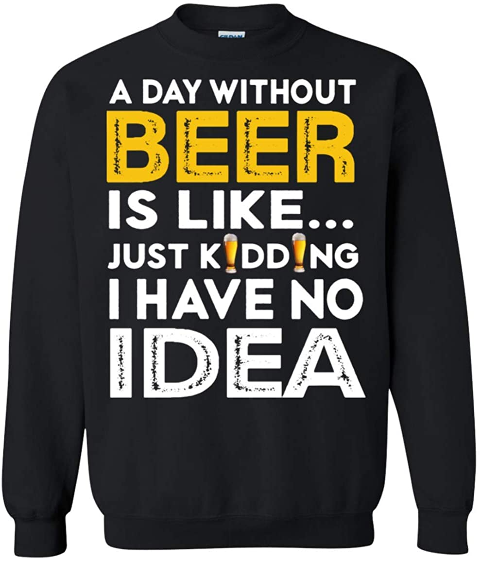 A day without beer guys hoodies