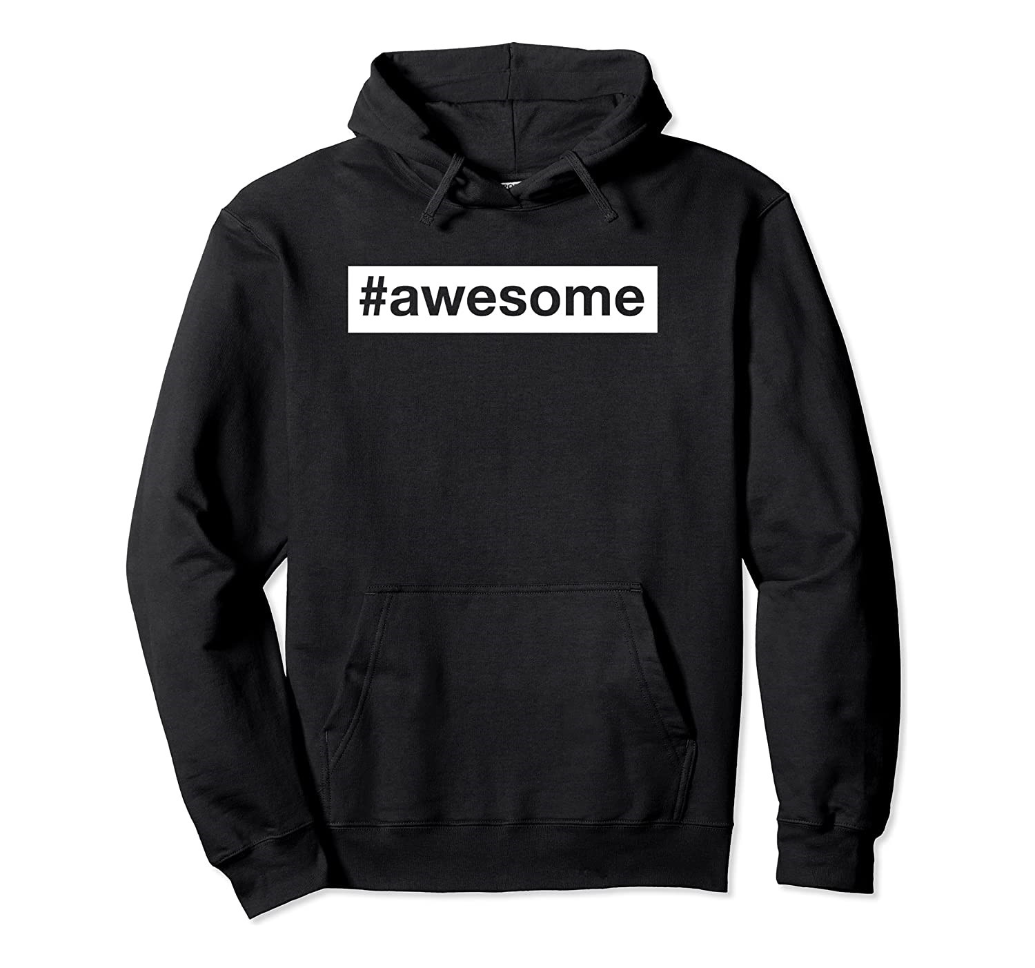 Awesome hashtag men's hoodie