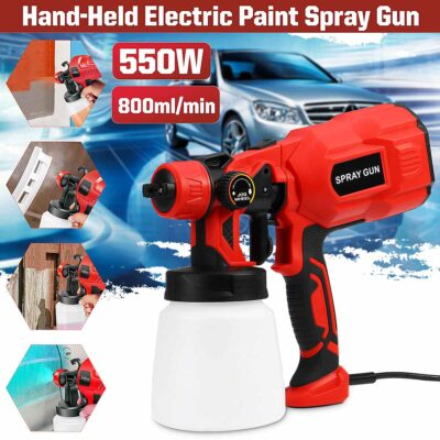 Electric Spray Gun For Quick And Easy High Powered Spray Painting
