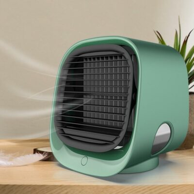 Portable Desktop Air Conditioner With Water Cooling Fan And Humidifier