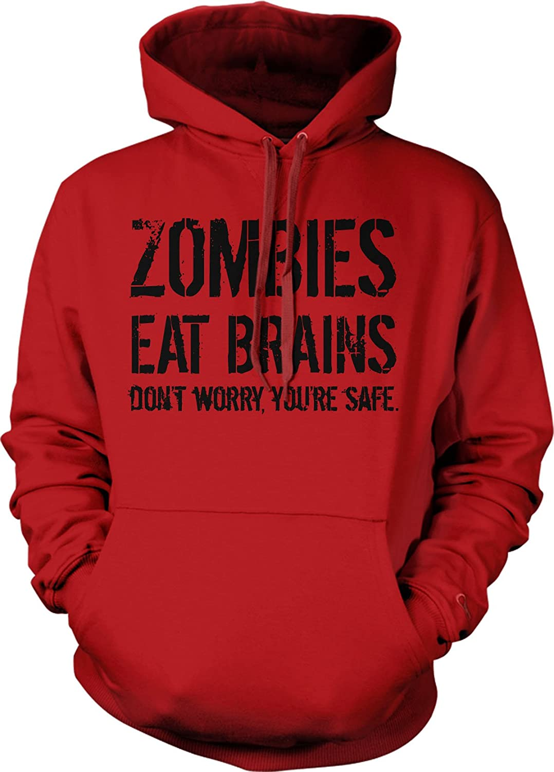 Zombies don't eat brains hoodies for guys