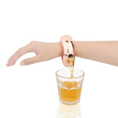 Stainless Steel Bangle Whiskey Flask