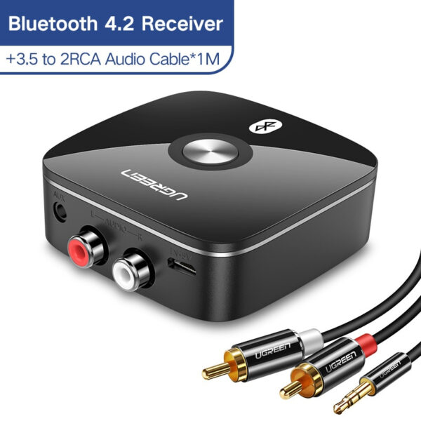 Bluetooth 5.0 Receiver With 3.5mm Audio Jack - For Converting Any Speaker To A Bluetooth Speaker - 1