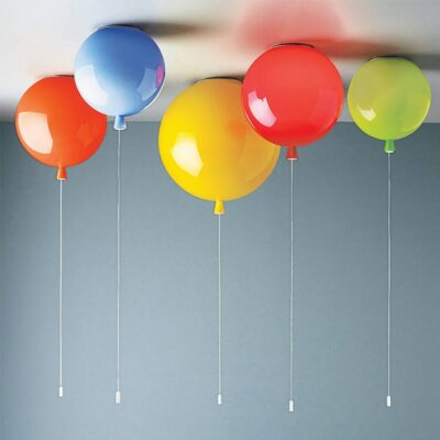 Ceiling-Mounted Balloon Lamps