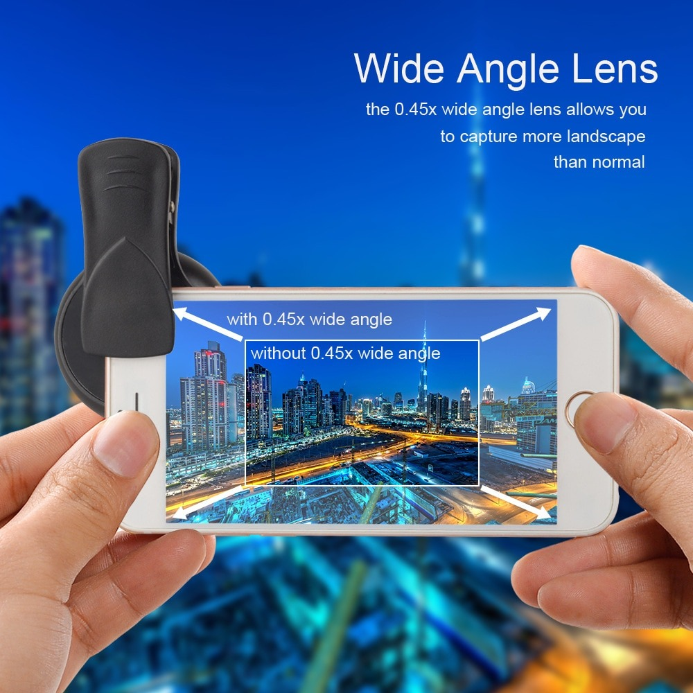 Clip-On Wide Angle And Macro Lenses