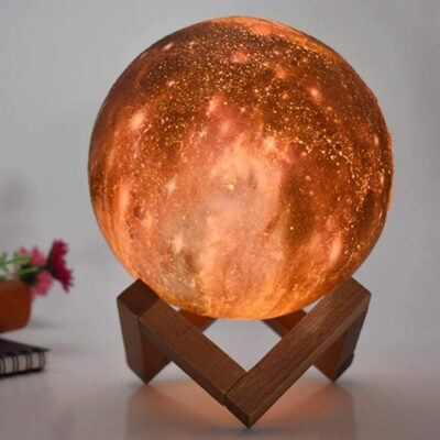Rechargeable Starry Moon Lamp [3D Printed]