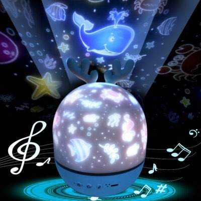 Starry Night Rotating Projector Lamp With Music 1