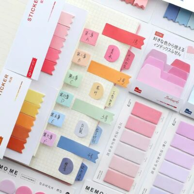 Colored Sticky Memo Notes 1