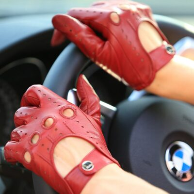 Women's Leather Driving Gloves 3