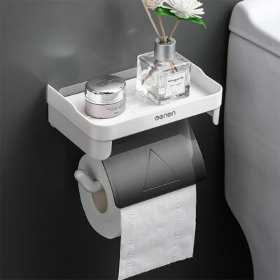 Toilet Paper Holder With Shelf 1