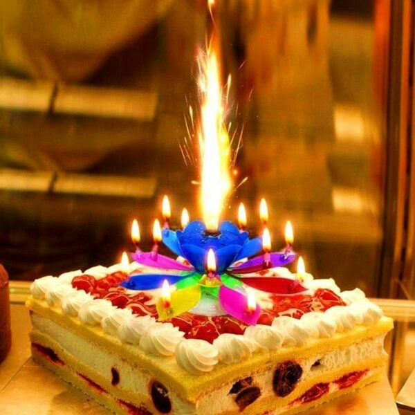 Happy Birthday Musical Cake Candles 1