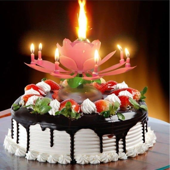 Happy Birthday Musical Cake Candles