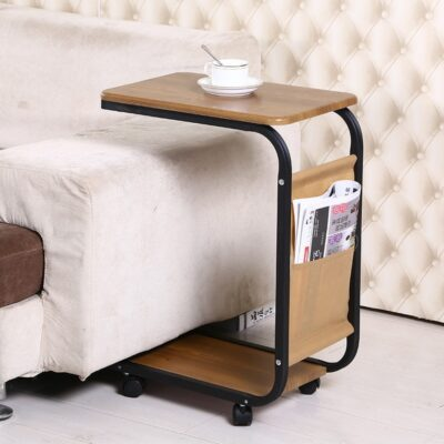 Sofa Side Coffee Table with Wheels 1