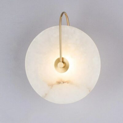 Round Marble LED Wall Light 1