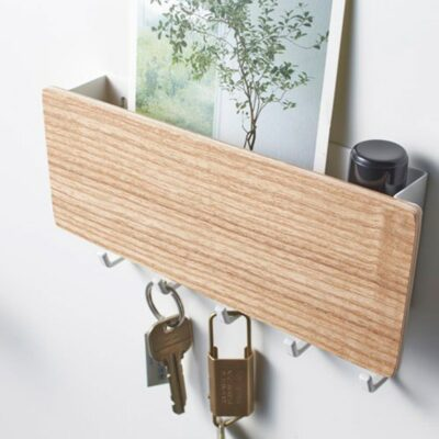 Wall-Mounted Wooden Rack  1