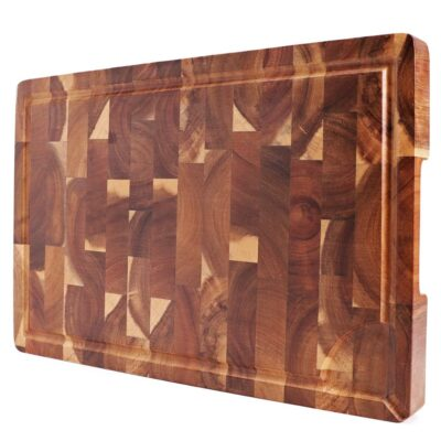 Acacia Wood Chopping Board with Juice Groove 1