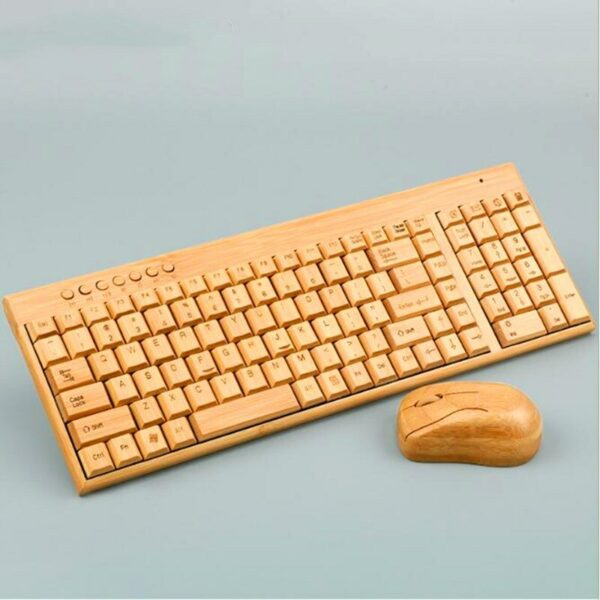 Wireless Bamboo Keyboard and Mouse 6