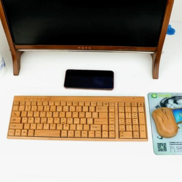 Wireless Bamboo Keyboard and Mouse 5
