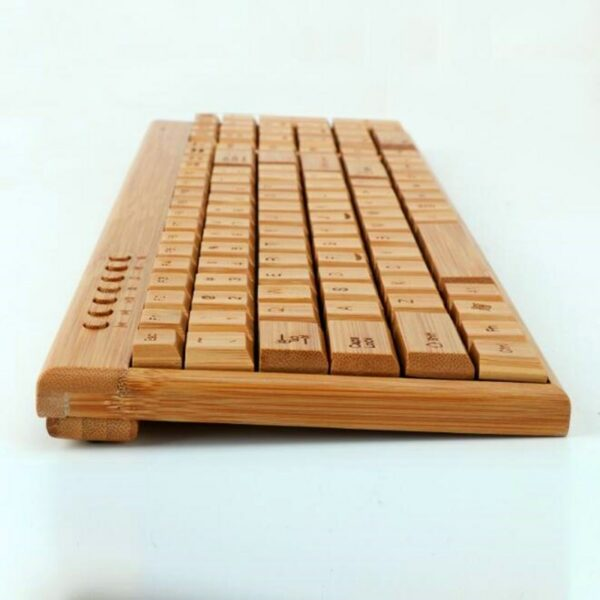 Wireless Bamboo Keyboard and Mouse 4