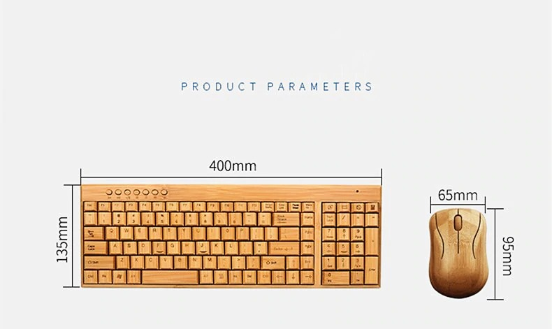 Wireless Bamboo Keyboard and Mouse (1)