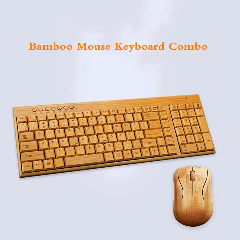 Wireless Bamboo Keyboard and Mouse (3)