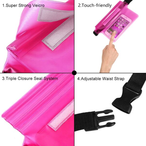 2-Pack Waterproof Pouch With Waist Strap 6