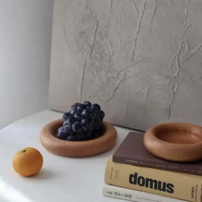 Round Wooden Display Tray 3