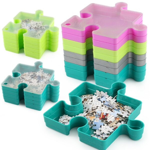 Stackable Jigsaw Puzzle Tray 1