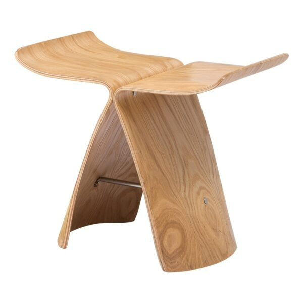 Nordic Style Butterfly Wooden Stool 1