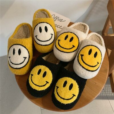 Fluffy Smiley Indoor Slippers 1