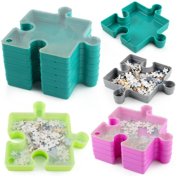 Stackable Jigsaw Puzzle Tray 2