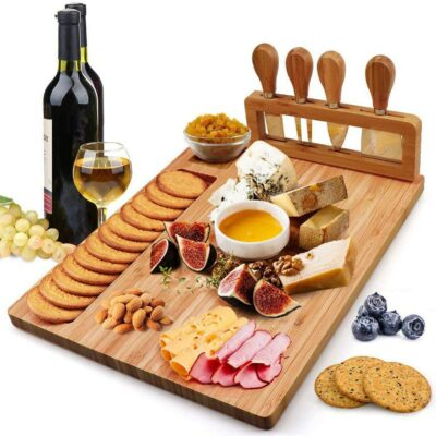 Bamboo Cheese Board and Biscuit Platter 1