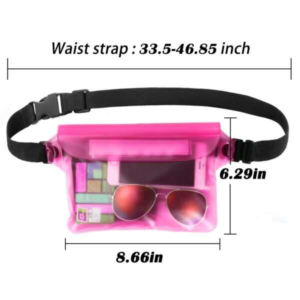 2-Pack Waterproof Pouch With Waist Strap 5