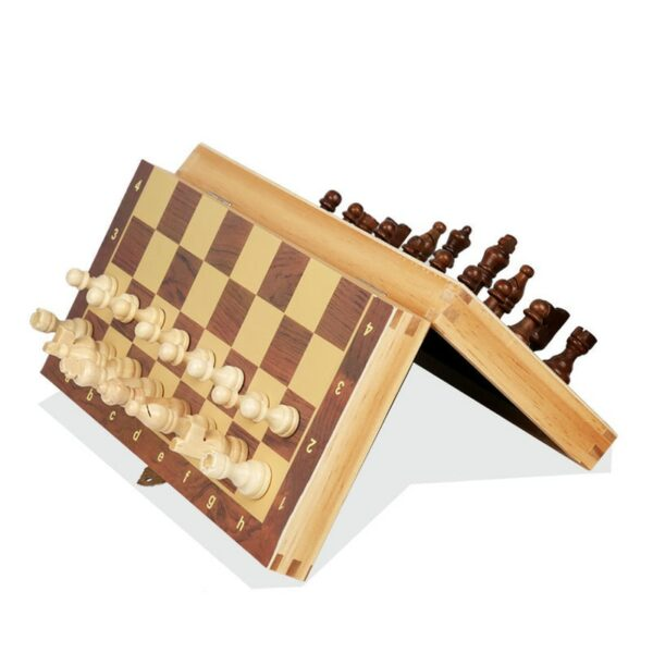 Book Style Magnetic Wooden Chess Set 4