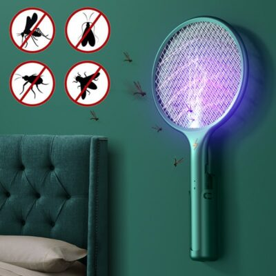 Battery Powered Mosquito Killer Lamp And Fly Swatter 1
