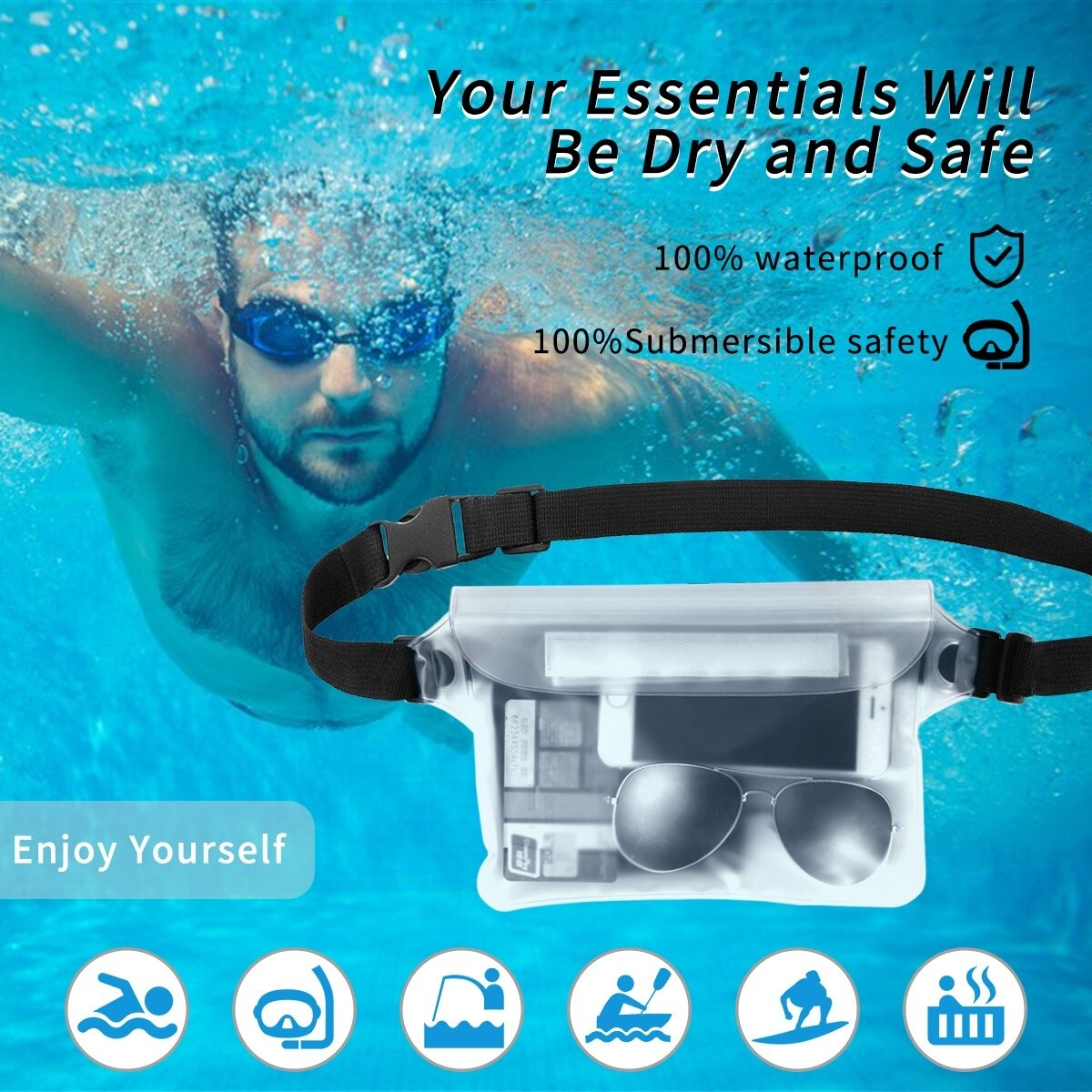 2-Pack Waterproof Pouch With Waist Strap (1)