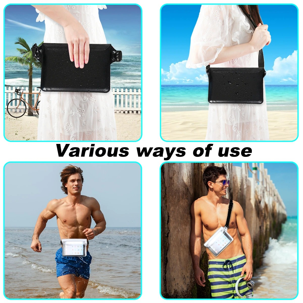 2-Pack Waterproof Pouch With Waist Strap (9)