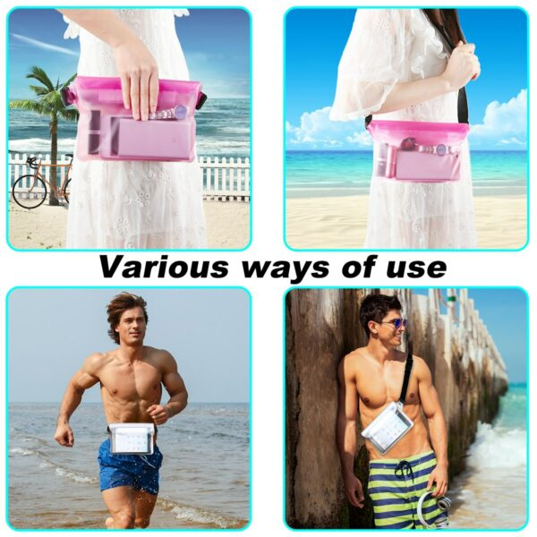 2-Pack Waterproof Pouch With Waist Strap 4