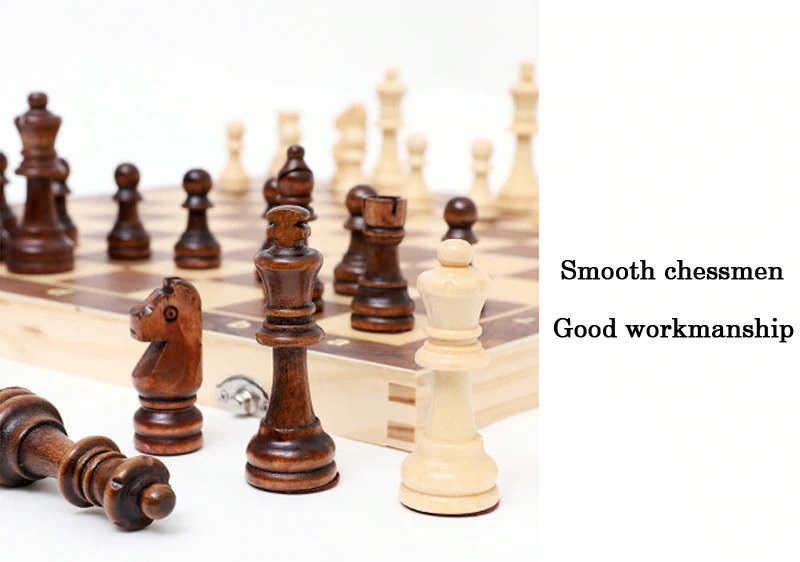 Book Style Magnetic Wooden Chess Set (4)