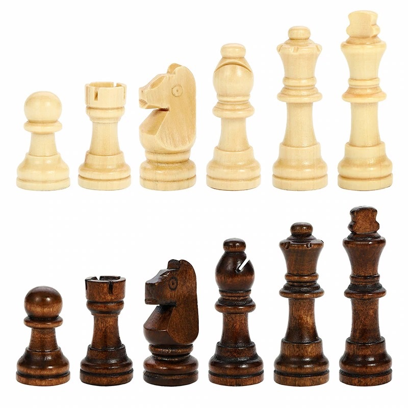 Book Style Magnetic Wooden Chess Set (7)
