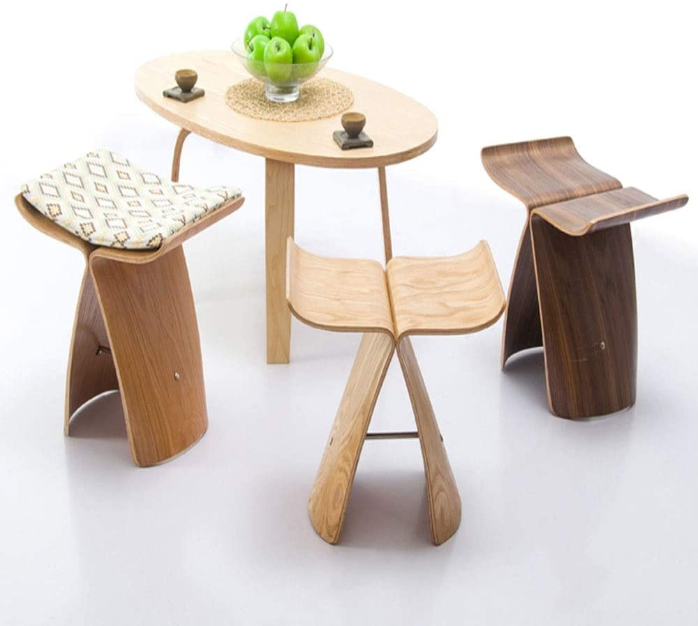 Nordic Style Butterfly Wooden Stool (1)