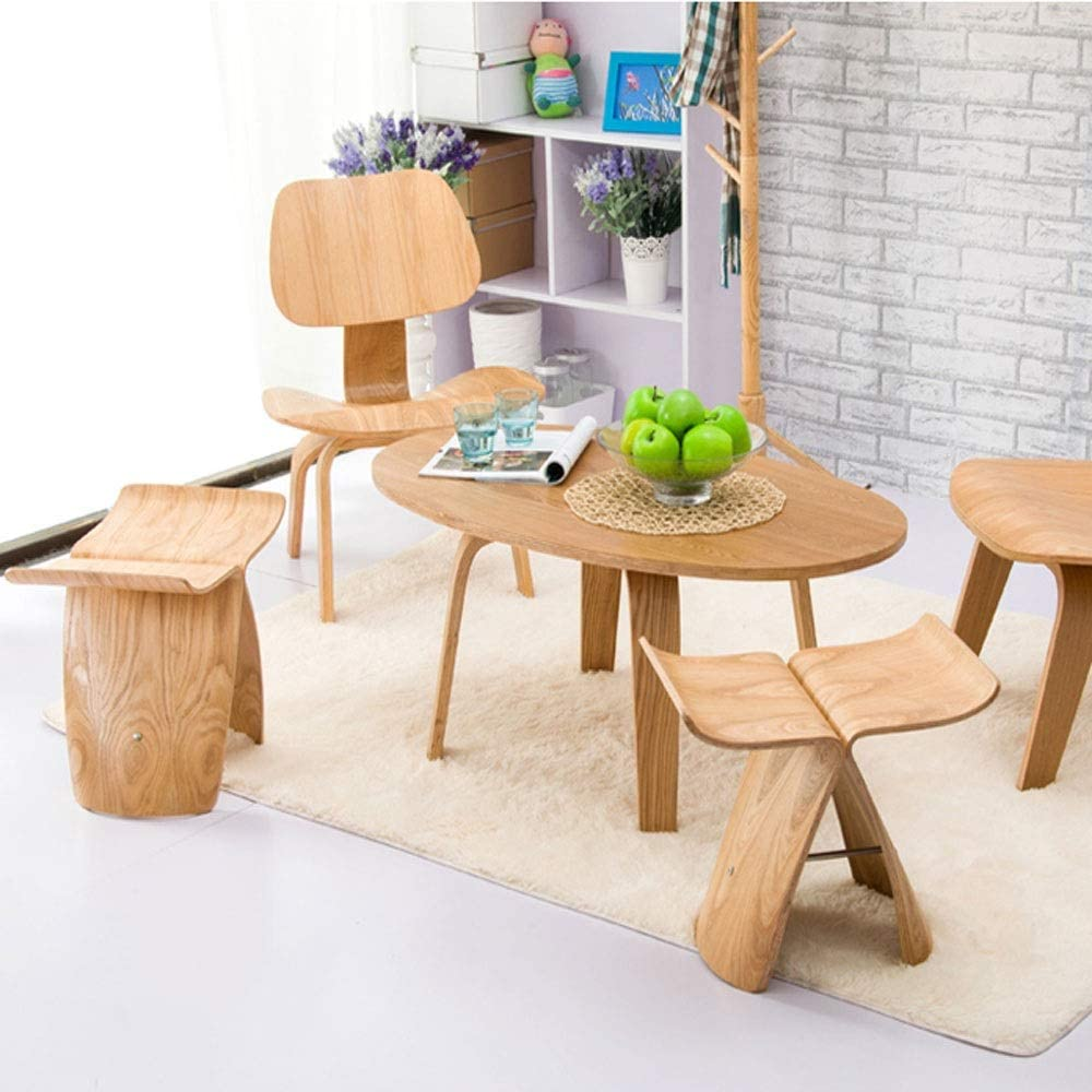 Nordic Style Butterfly Wooden Stool (5)